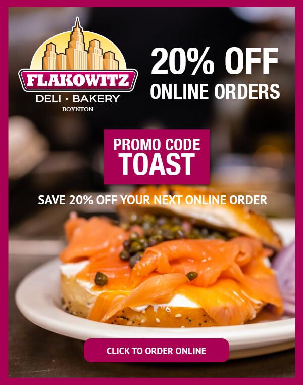 20% OFF Flakowitz Boynton on Toast